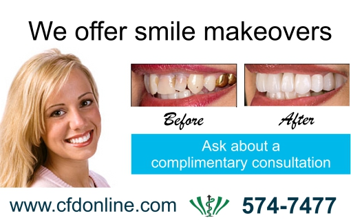 We Offer Smile Makeovers